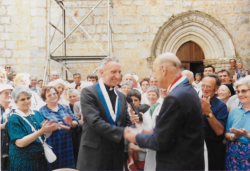 Visite du cardinal DECOURTRAY à Rocamadour le 14 août 1988