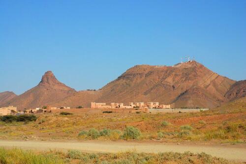 Djebel Zagora  et la ville