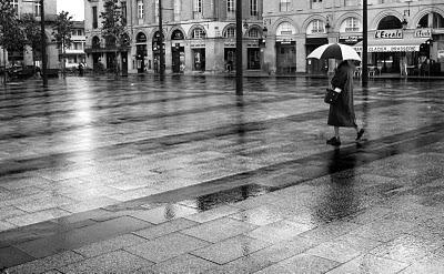 Castres sous la pluie