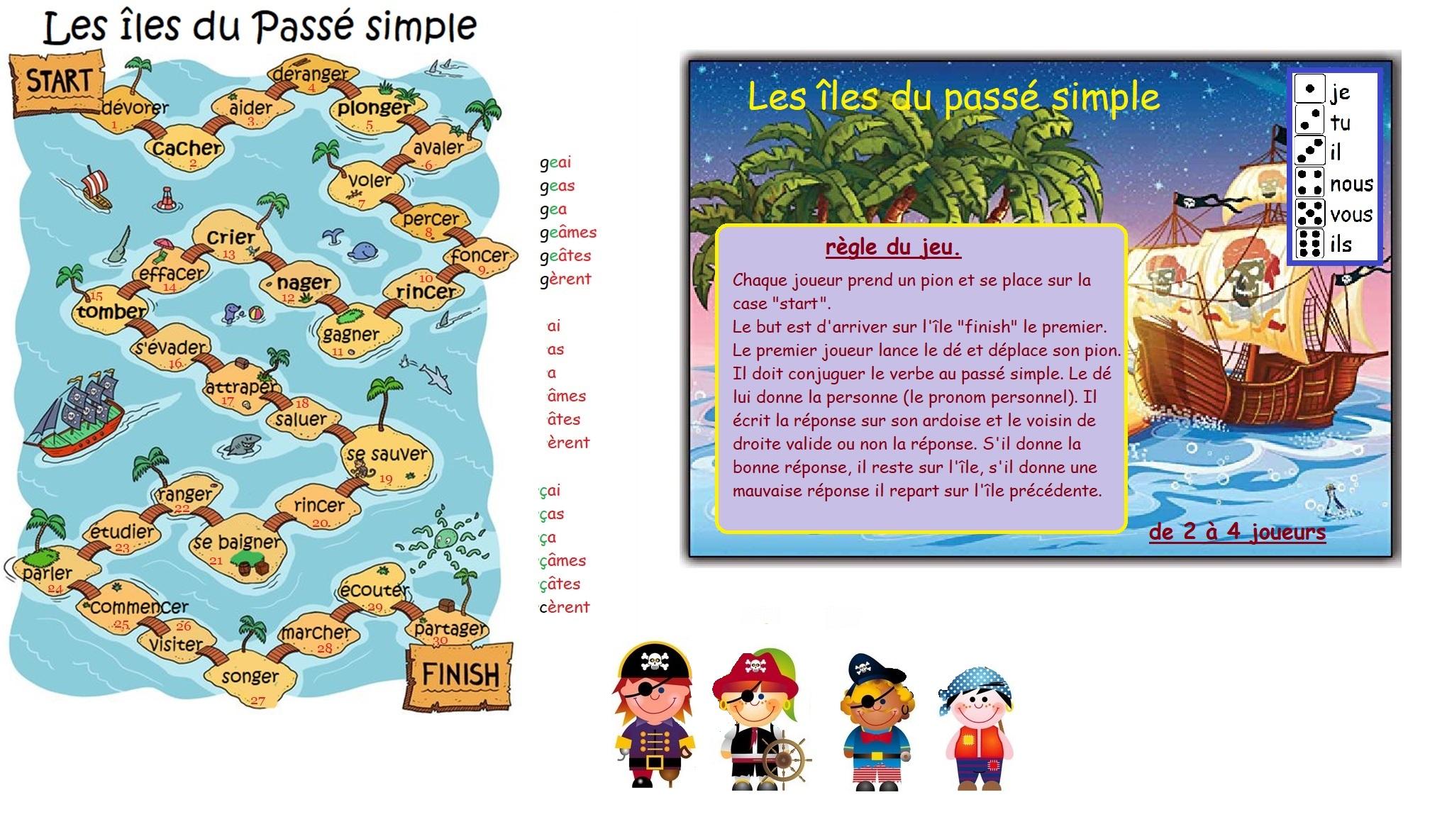5 Le Passe Simple Jeux Reve D Apprendre Au Cycle 3