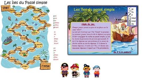 verbes du 1er groupe : Les îles du passé simple