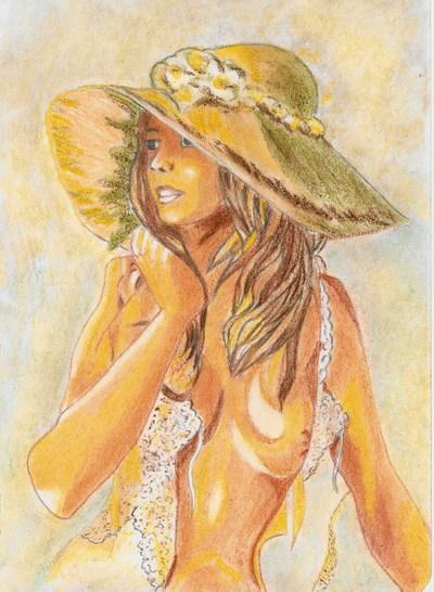 Blog de chouquette :dessins et chant chorale, dame à la capeline