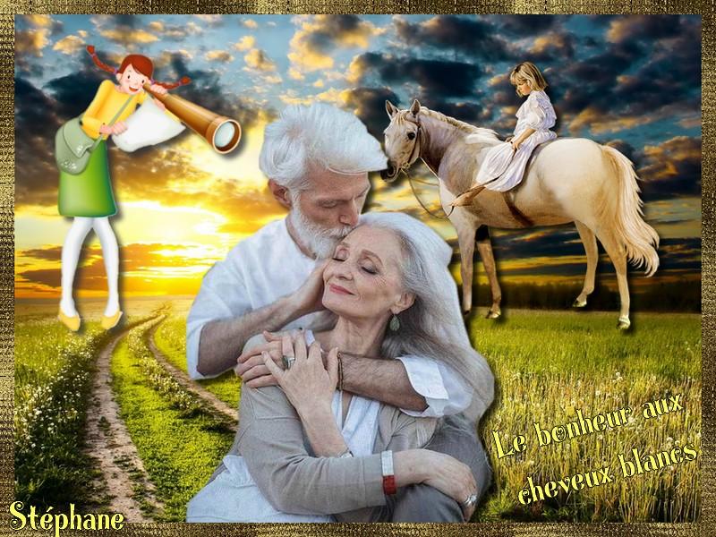 Défi pour Maman Manik ... Le bonheur aux cheveux blancs !