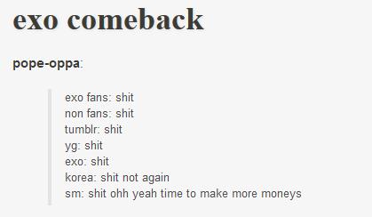 Il était une fois Chanyeol... euh EXO ! EXO, oui, EXO.