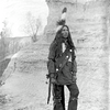 A Lakota man. ca. 1895-1899. South Dakota. Photo by Jesse H. Bratley. Source - Denver Museum of Natu