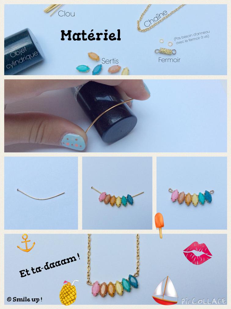Smile up ! DIY • Collier coloré pour les vacances