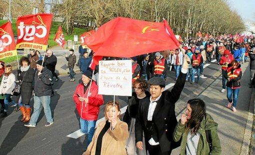 À Brest, 5 000 manifestants résignés mais toujours là (LT.fr-24/01/20-16h59)