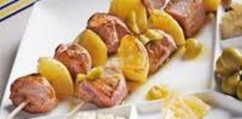 Brochettes d'agneau aux citrons confits