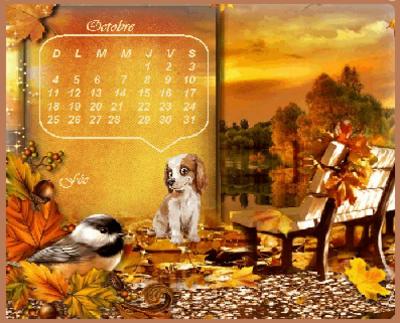 Calendrier du mois d'Octobre