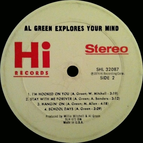 "1974 : Al Green : Album "" Explores Your Mind "" Hi Records SHL 32087 [ US ]"