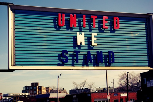 United we stand.
