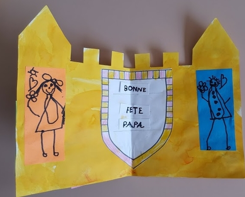 Carte fete des peres chateau des eleves de C