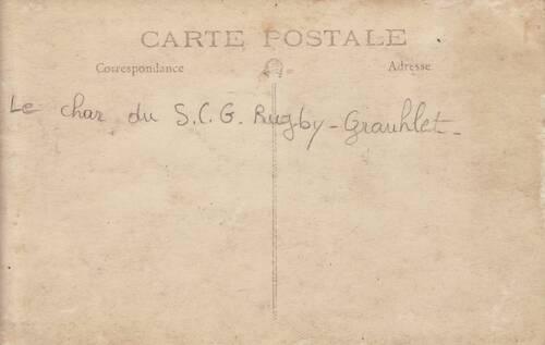 INEDIT : RUGBY - le Char du Sporting Club Graulhétois