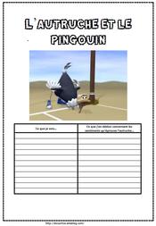 L'autruche et le pingouin, inférence sentiment, comprendre, compréhension