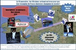 Le flyer du déplacement à Plescop !