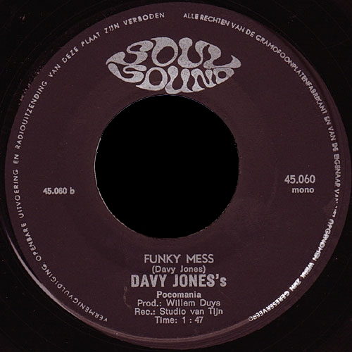 1967 : Single SP Soul Sound Records 45.060 [ NL ]