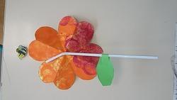 Fleur coeur en papier