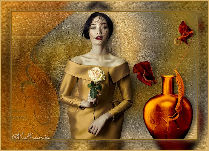 Femme à la rose