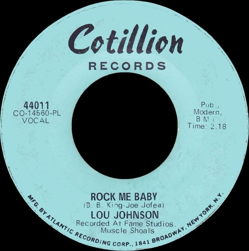 "Lou Johnson : Album "" Sweet Southern Soul "" Cotillion Records SD 9008 [ US ]"
