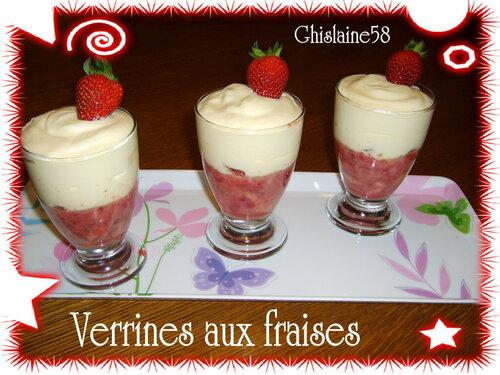 Verrine de fraises au fromage blanc