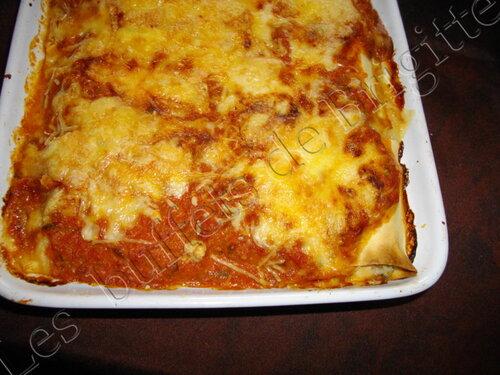Cannellonis au  reste de dinde,  poivron et maroille