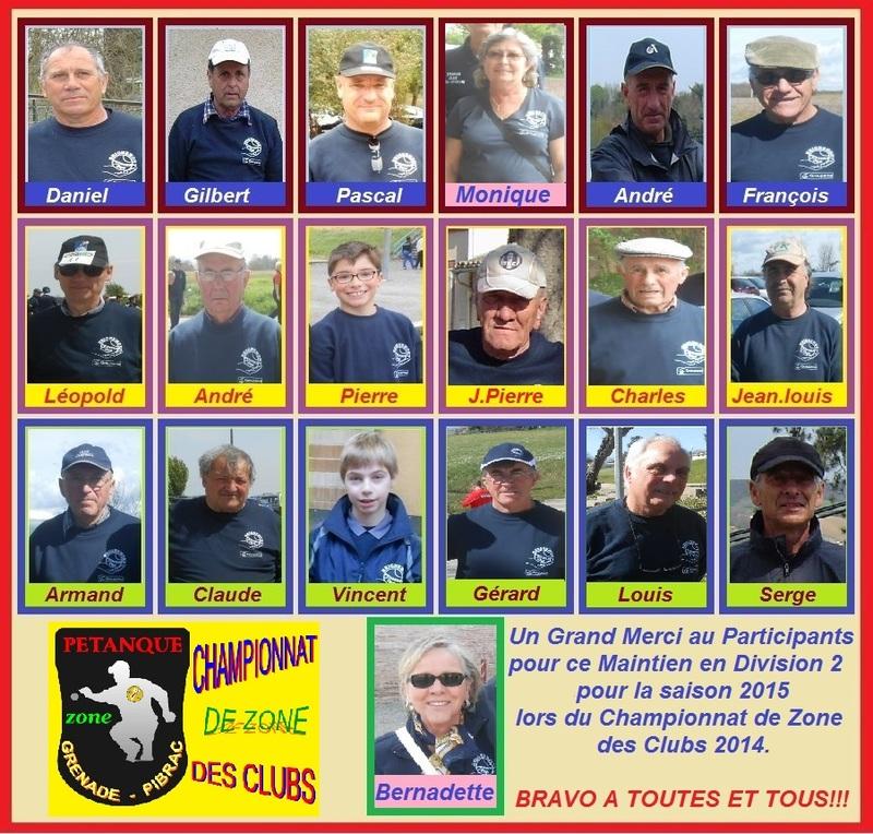 CHAMPIONNAT DE ZONE DES CLUBS 2014.