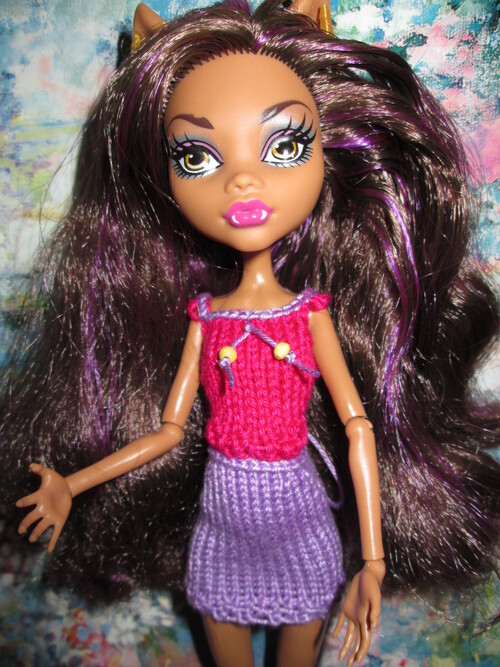 Top et jupe pour monster high