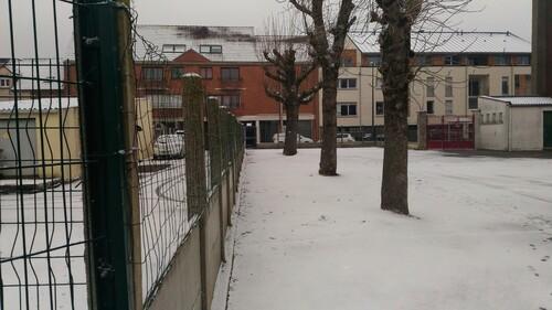 Récréation sous la neige!