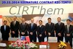 XEMC EQUIPMENT: nouveau contrat de 15 ans avec RIO TINTO.
