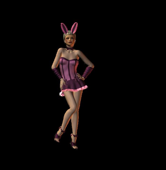 Poser lapins