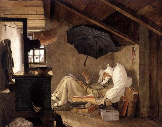 Carl Spitzweg, Le Pauvre poète, 1839, Staatliche Museen, Berlin