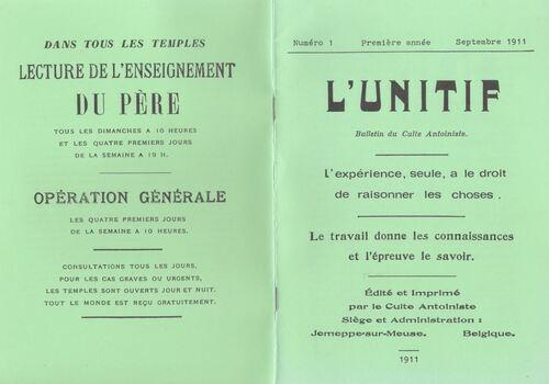 Unitif (original 1911) et Unitif (après 1912)