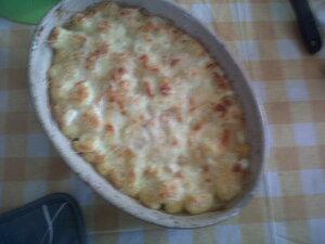Le fameux gratin!! Panna Cota et coulis de fraises!!! On en rachèteras, j'adore, c'est frais et crèmeux et simple à faire merci Lidl!!