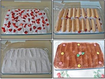 Tiramisu aux fraises et fromage blanc