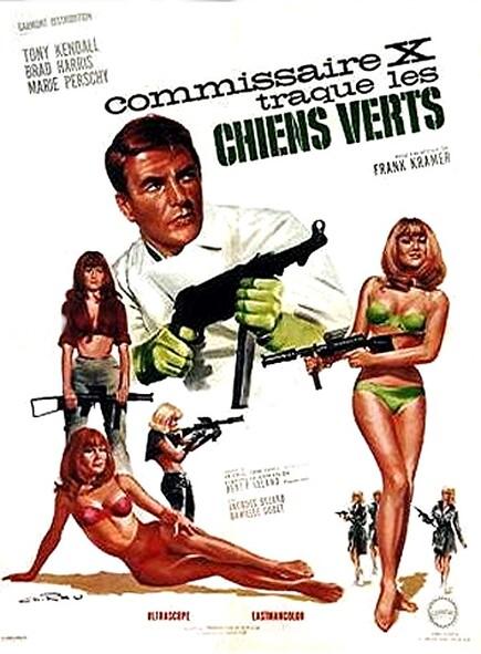 COMMISSAIRE X TRAQUE LES CHIENS VERTS - BOX OFFICE 1966