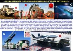 ...LES FABRICANTS CHINOIS FOURNISSEURS de L'ARMEE NATIONALE...(complément)