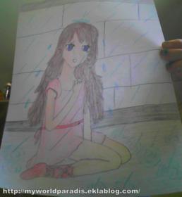 Dessin n°8: une fille est triste