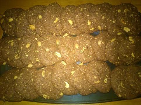 Cookies chocolat cacahuète (de Mimi)