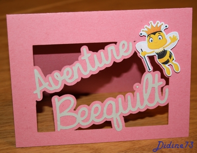Aventure beequilt - septembre - carte logo