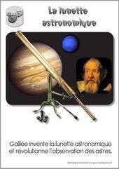 invention de la lunette astronomique par Galilée