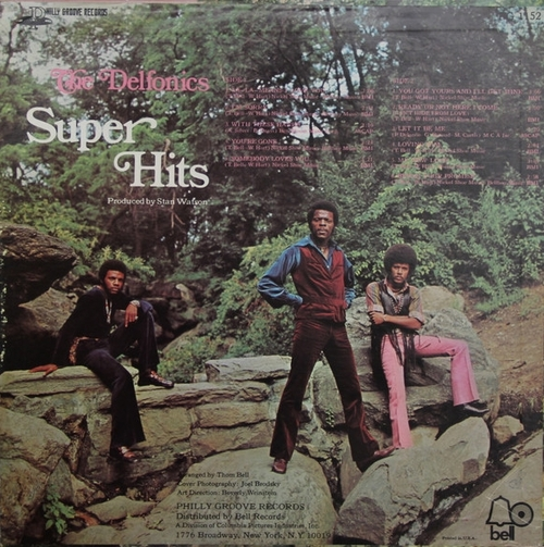 "The Delfonics : Album "" Super Hits "" Philly Groove Records PG 1152 [ US ] en 1969"