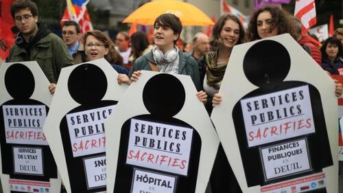 Services publics sacrifiés, les jeunes en première ligne.