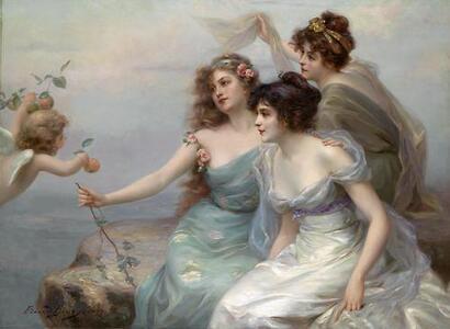 09 - Trois soeurs en peinture, 19 ème