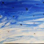 Le dégradé et les étoiles