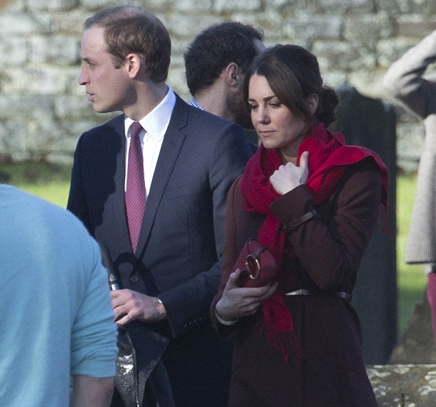 Kate et William à la messe