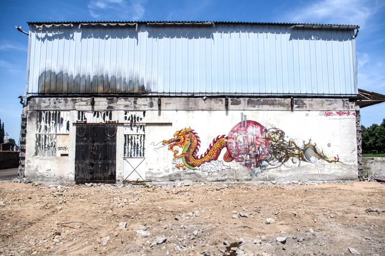 Riorges, rue Maréchal Foch, juillet 2014