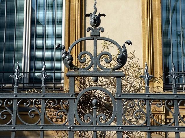Les grilles de la Trésorerie Générale de Metz 3 Marc de