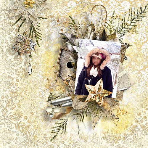 Golden Christmas de Doudou's Designs