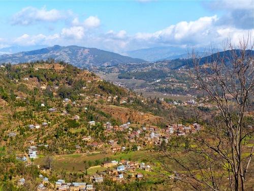 vue générale des petits villages;