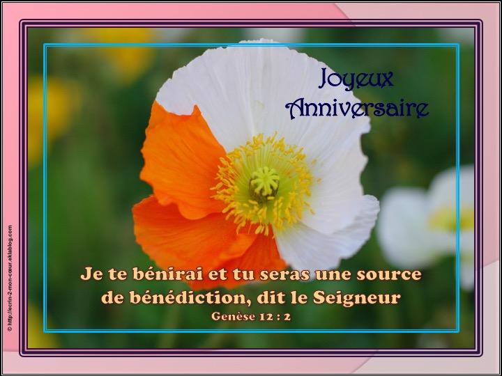 Joyeux Anniversaire - Genèse 12 : 2